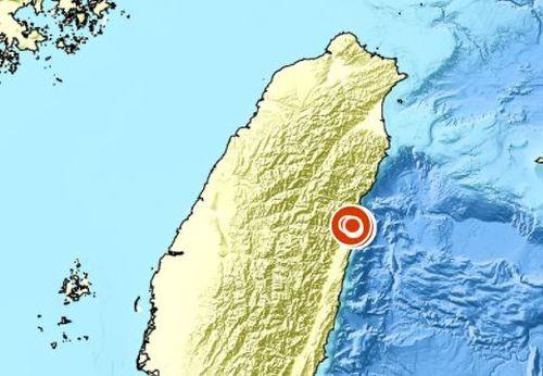 花蓮で地震 1時間で15回 最大震度4=画像は中央気象局のウェブサイトから