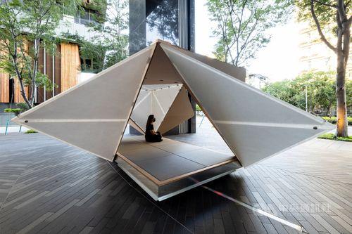 今回の個展のために制作された「折箱(Oribako)」=忠泰美術館提供