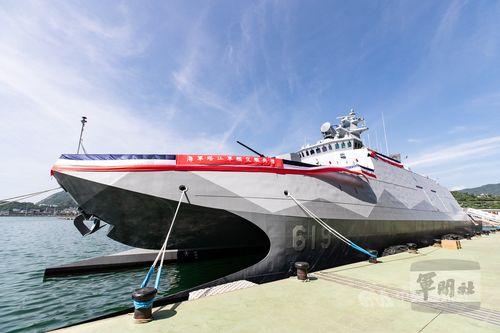 海軍に引き渡されたコルベット艦「塔江艦」=軍聞社提供