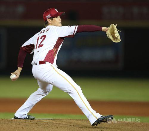 24日の統一ライオンズ戦で台湾プロ野球初登板を果たした陳冠宇投手
