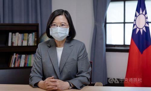 蔡総統「台湾は地域の平和における強いパワー」=写真は総統府提供