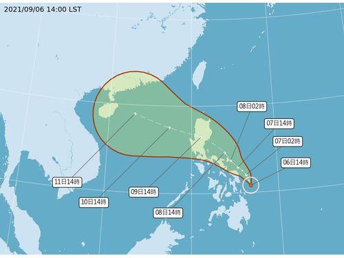 軽度台風台風13号の進路予想(中央気象局)