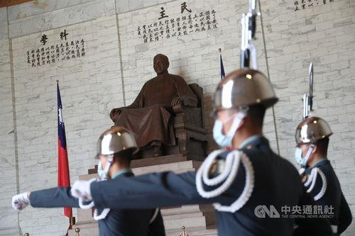 中正紀念堂の蒋介石像