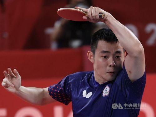 陳建安選手。日本との男子団体準決勝で2勝した=資料写真