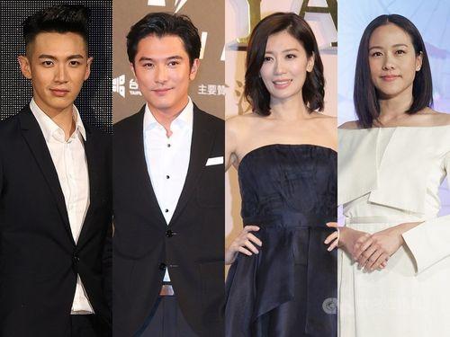 金馬奨の主演男優・女優賞候補の(左から)クー・チェンドン、ロイ・チウ、アリッサ・チア、カリーナ・ラム=資料写真