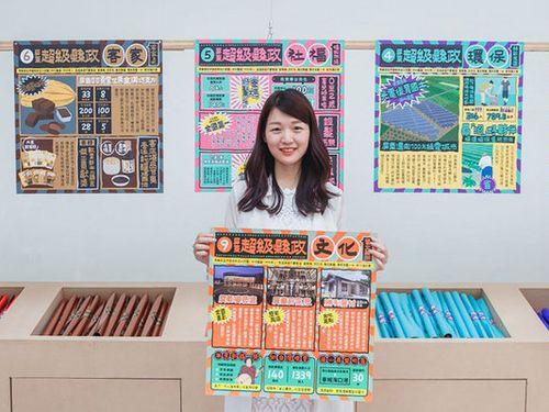 屏東県のポスター、スーパーのチラシ風に 独デザイン賞