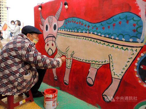 台中市の「虹の村」、験担ぎスポットとして人気