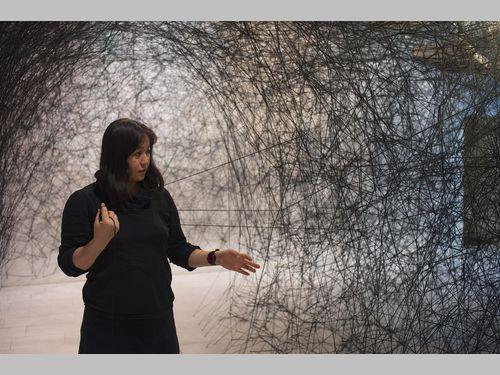 塩田千春さん、台北での個展に合わせて訪台