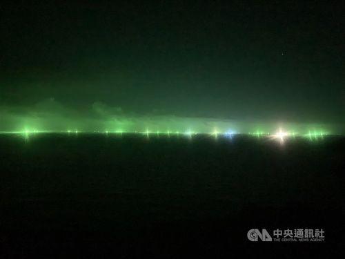 馬祖住民、中国漁船の集魚灯に困惑 「不自然極まりない」