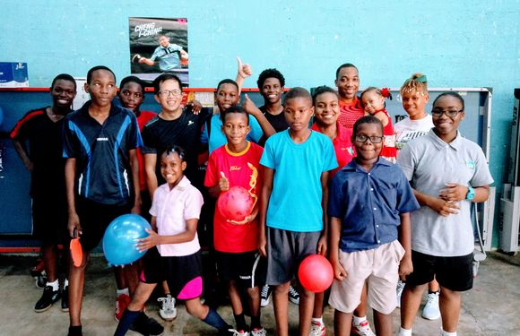 Ping-pong diplomacy: volunteer finds inspiration in St. Lucia