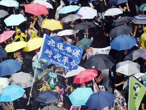 Huge crowd rallies in Taipei to support Hong Kong democracy movement
