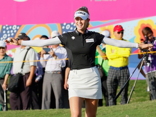 US's Korda retakes lead after third round of Taiwan LPGA tourney
