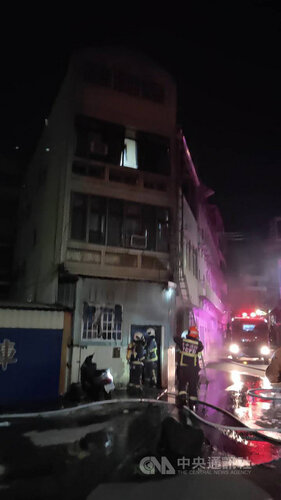 Fire hits migrant workers dorm in Taichung, causing choking injuries