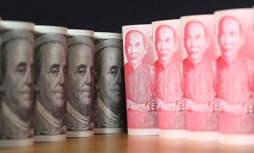 U.S. dollar closes lower on Taipei forex market