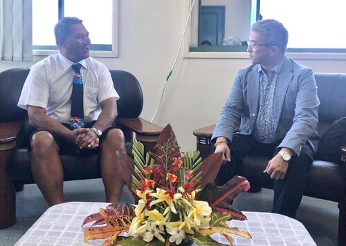 Taiwan's deputy FM calls on newly elected officials in Tuvalu