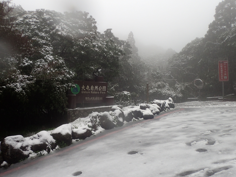 Snow in Yangmingshan National Park