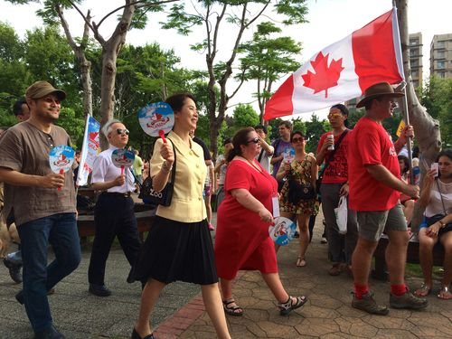 Crowds turn out for Canada Day celebrations in Taipei