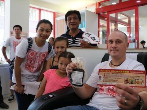 Belarusian makes first blood donation in Taiwan to 'give back'