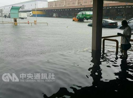 Severe flooding, power outages leave Taoyuan airport in chaos