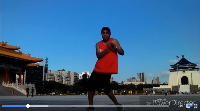Screen shot of Cyril Buna's In My Feelings dance challenge in Taipei (video courtesy of Cyril Buna)