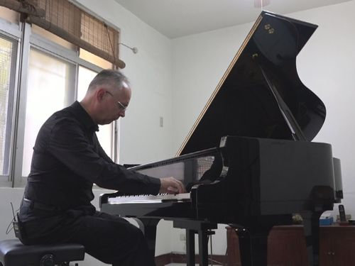 Austrian pianist Albert Muhlbock