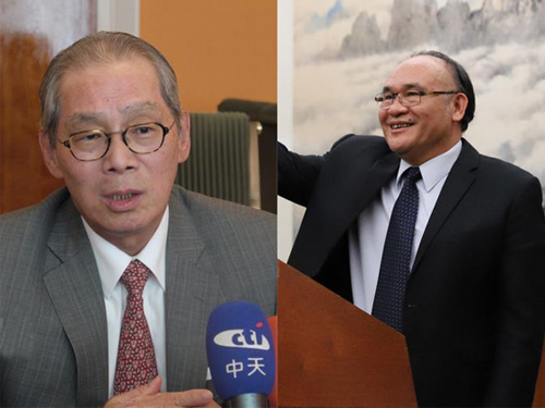 Taiwan representative to the U.S. Stanley Kao (left) and ambassador-at-large for religious freedom Pusing Tali. CNA file photo