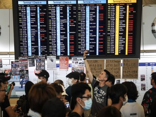 Taiwan-Hong Kong flights canceled due to airport protests