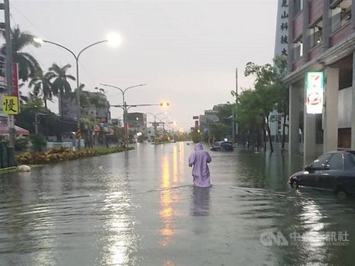 Severe flooding in southern Taiwan.