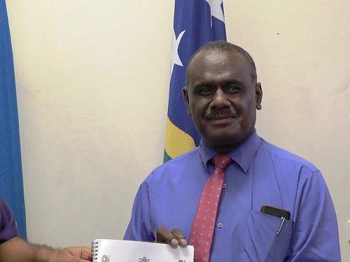 Solomon Islands' Foreign Minister Jeremiah Manele