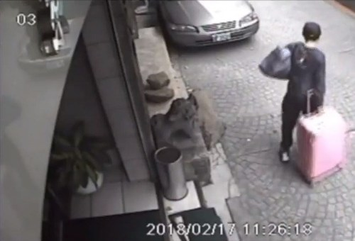 Chan Tung-kai caught on security camera in Taipei in 2018 (Photo courtesy of the police)