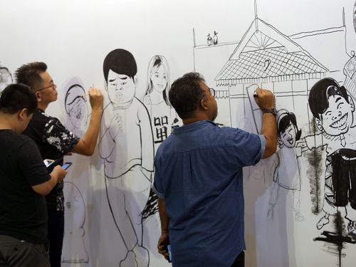 Artists showcase 'superheroes' at Taipei Comic Festival