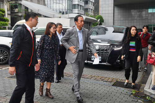 Gou files police complaint about misinformation