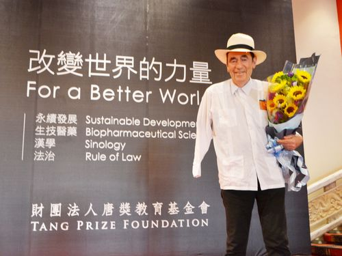 Albie Sachs, winner of the Tang Prize for rule of law.