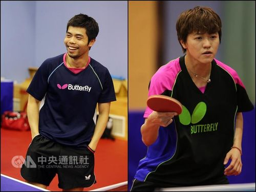 Chuang Chih-yuan (left) and Huang Yi-hua, both fourth-time Olympians.
