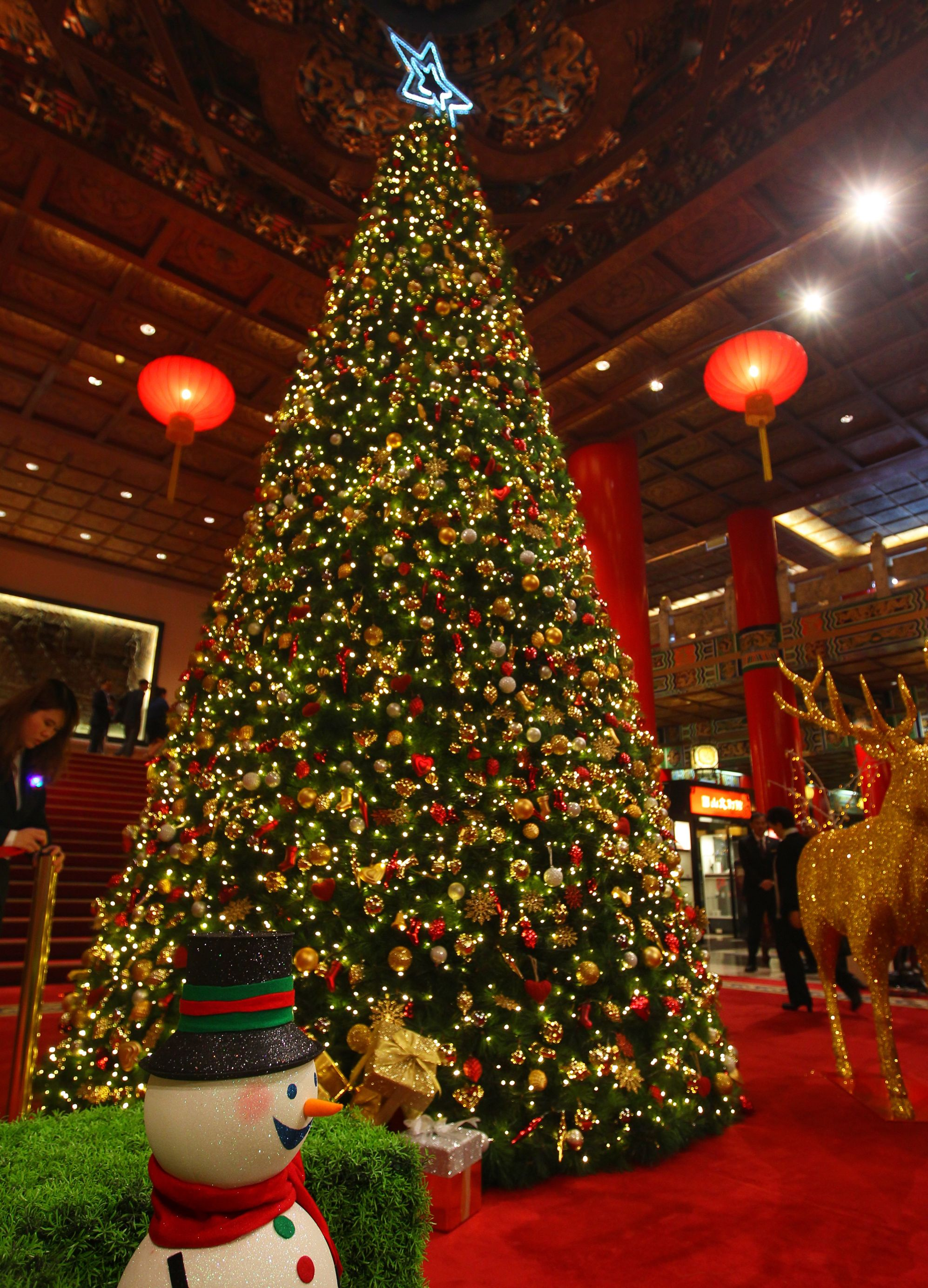 Christmas decorations, events around Taiwan