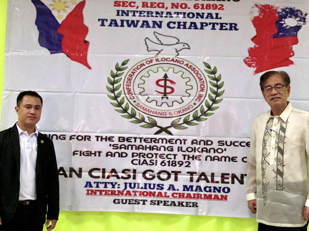 CIASI Taiwan National Chairman Rheden Delumen (left) and CIASI International Chairman Julius Magno (right)