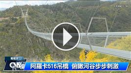 最長吊橋在葡國 走完要十分鐘