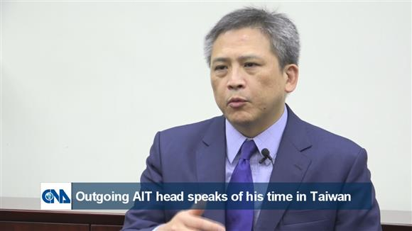 Outgoing AIT head speaks of his time in Taiwan