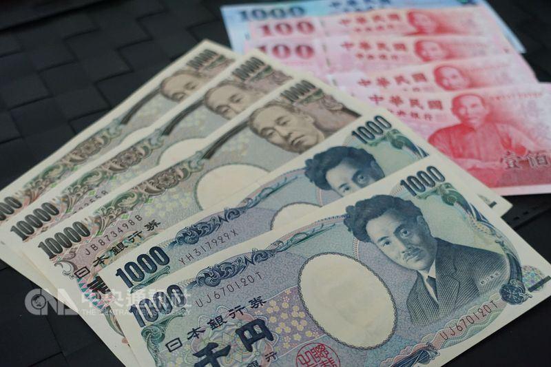 根據台銀最新牌告價格,5日日圓現金賣出價一度突破0.28元,創半年來新高。(中央社檔案照片)