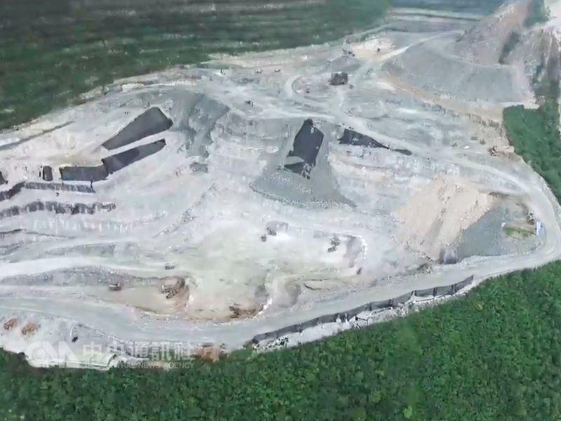 圖為亞泥花蓮新城礦區。(中央社檔案照片)