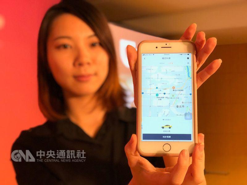 中國最大叫車業者滴滴出行在台灣推出「滴滴順風車」,遭監理單位開9張舉發單,恐罰1.81億元。(中央社檔案照片)