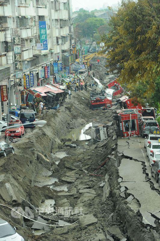 民國103年7月31日高雄發生連環氣爆,造成32死、321人輕重傷。(中央社檔案照片)
