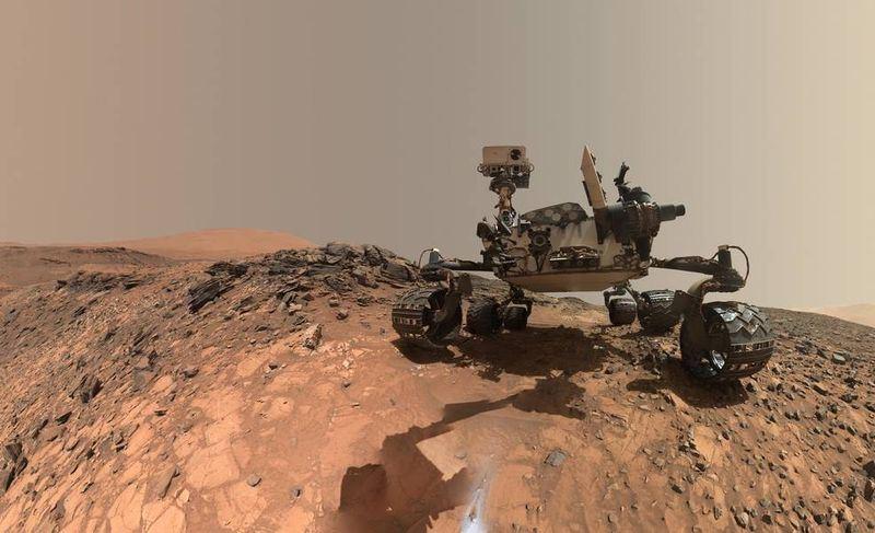 NASA機器人好奇號(圖)探測火星地表,,找到迄今所發現成分最複雜的有機化合物,更偵測到甲烷氣體有季節性波動。(圖取自NASA網頁www.nasa.gov)