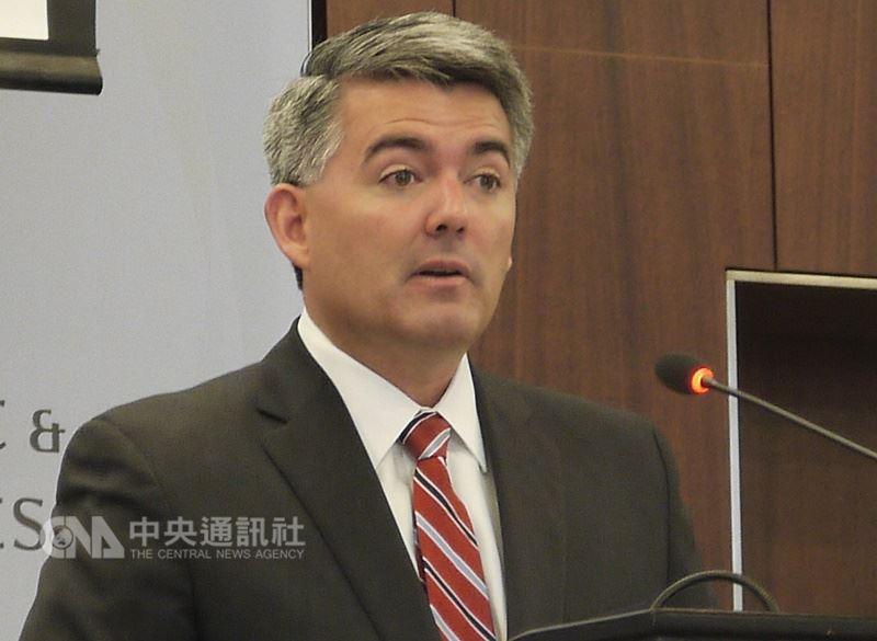 美國聯邦參議員聯合提出「台北法案」,共和黨籍聯邦參議員賈德納(圖)透過新聞稿表示,美國將利用各種方法以支持台灣的國際地位。(中央社檔案照片)