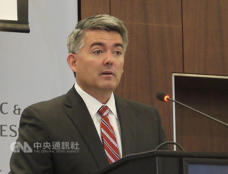 跨黨派美國聯邦參議員聯合提出「台北法案」,盼提升台灣的國際地位。圖為其中一位草案發起議員賈德納(Cory Gardner)。(中央社檔案照片)