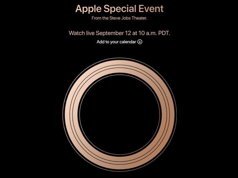 蘋果將於美國時間9月12日(台灣時間13日)舉行發表會。(圖取自Apple官網 www.apple.com)