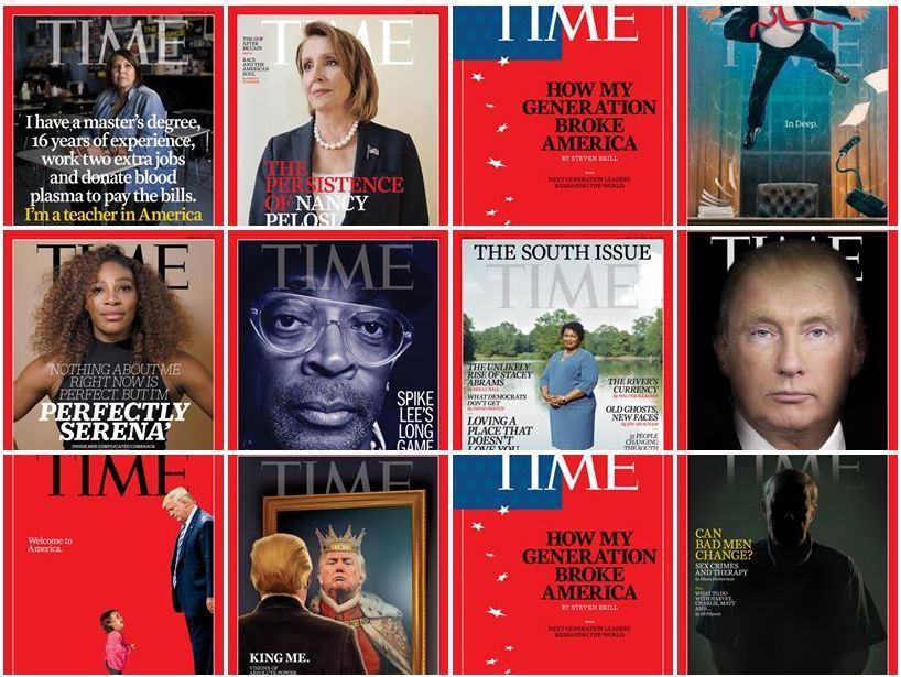 梅雷迪思公司16日把時代雜誌出售給馬克.班紐夫和他的妻子。(圖取自時代雜誌臉書www.facebook.com/time/)