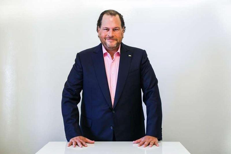 科技業億萬富翁馬克.班紐夫(圖)和他的妻子琳恩同意以現金約新台幣59億元,從梅雷迪思公司手中收購時代雜誌。(圖取自Salesforce Careers推特twitter.com/salesforcejobs)