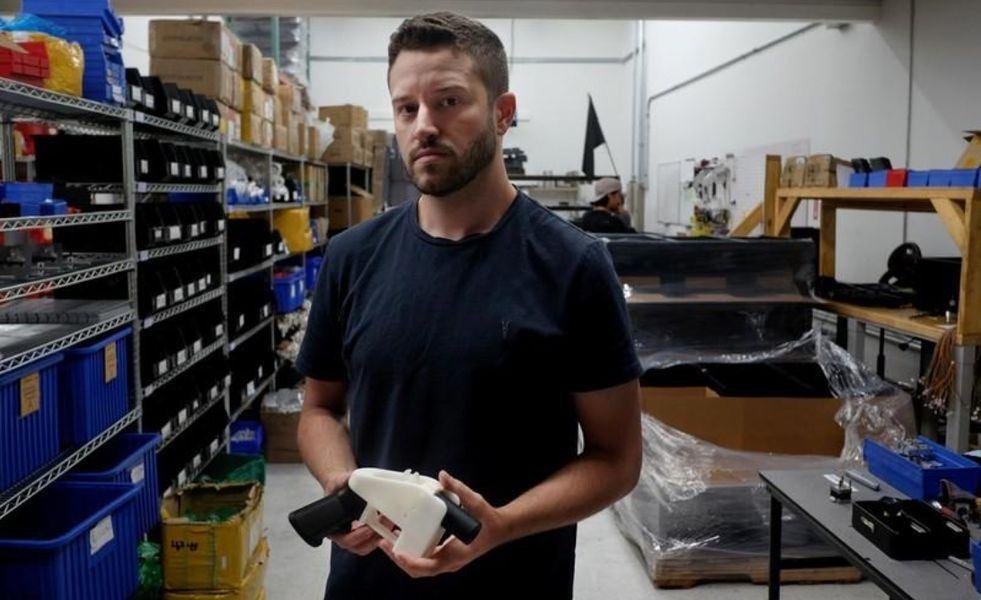 圖為美國3D列印手槍發明人威爾森。(檔案照片/路透社提供)