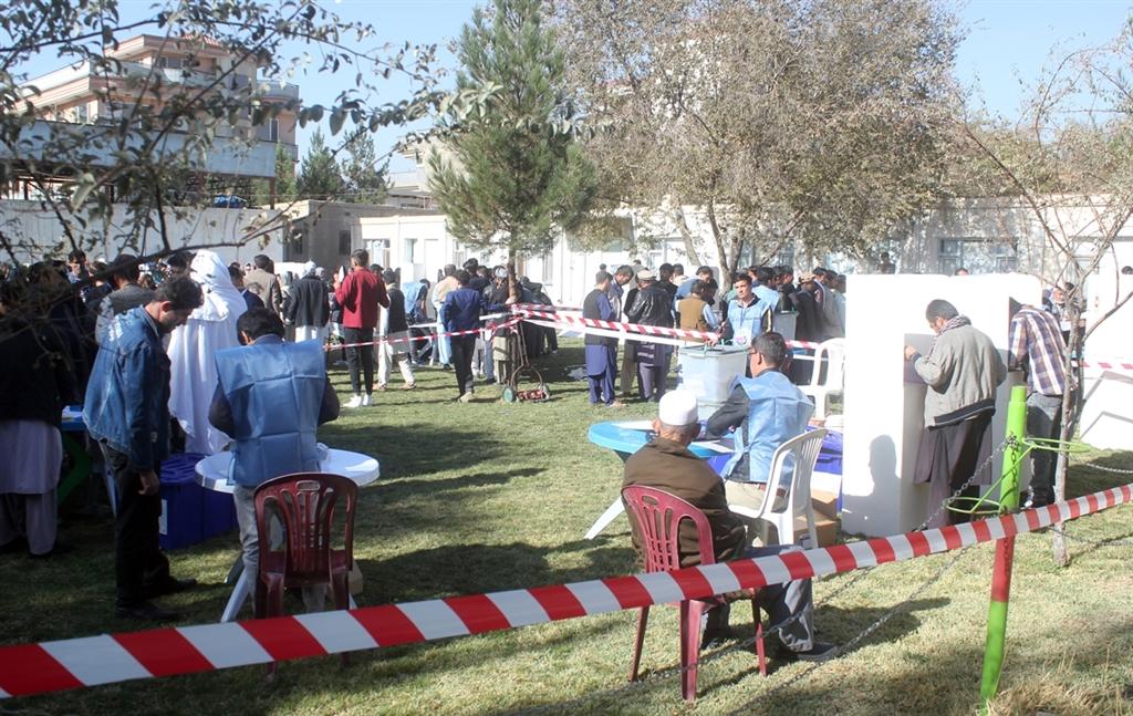 阿富汗舉行國會大選,混亂狀況不斷。(安納杜魯新聞社提供)